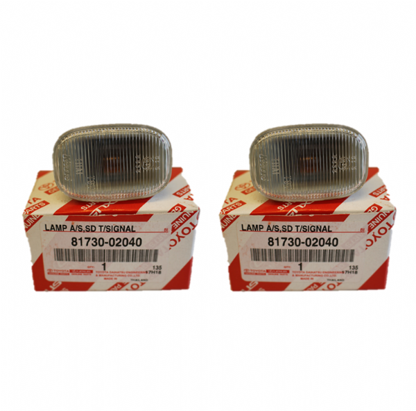 Genuine Toyota Supra Clear Side Indicator Repeater Pair (Qty: 2) 81730-02040, 8173002040